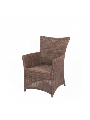 Synthetic Rattan Chair  - Brown