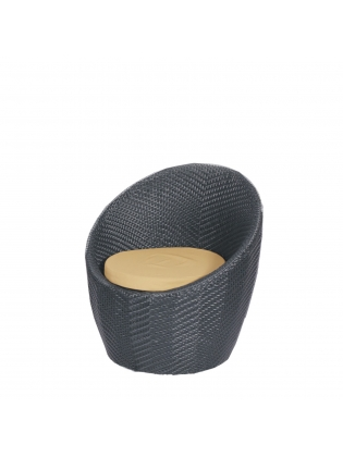 Synthetic Rattan Chair  - Black