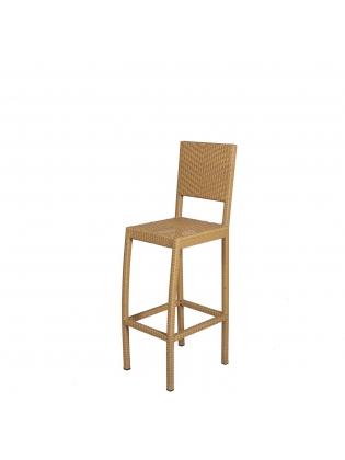 Synthetic Rattan Bar Chair - Light brown