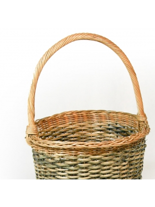 Wicker Basket - Cylindrical Shaped