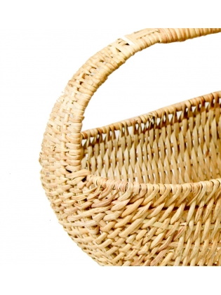 Wicker Basket -  Oval Shaped (Curvy)