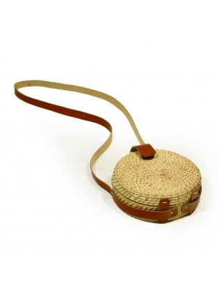 Hand Made Rattan Bag - Round
